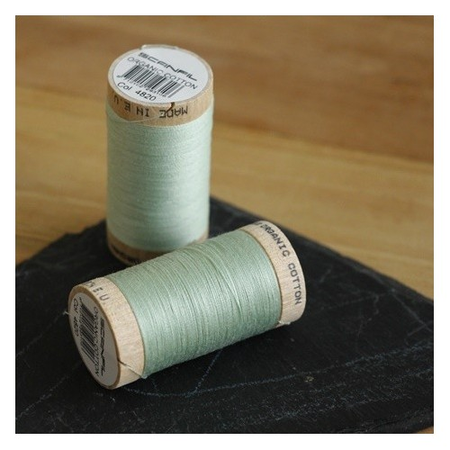 fil coton bio scanfil - vert d'eau