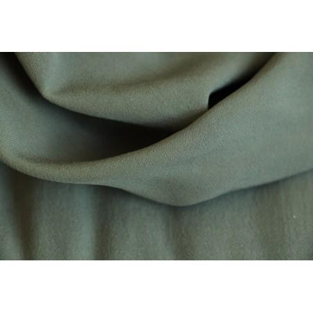 tissu crêpe fluide kaki