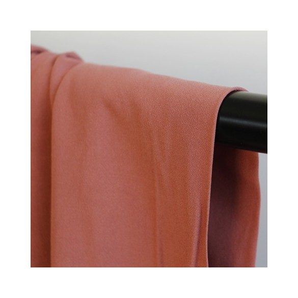 tissu crêpe de viscose - rose blush