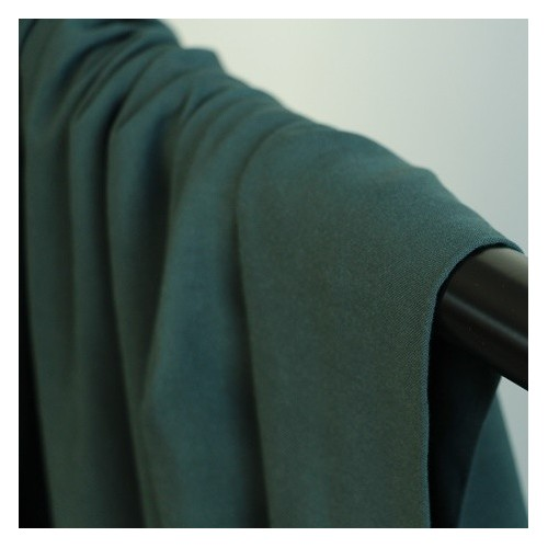 tissu viscose fine - vert foncé