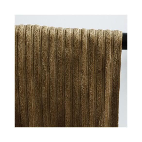 tissu velours grosses côtes - bronze
