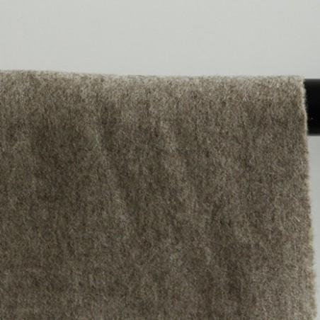 drap de laine - beige chiné