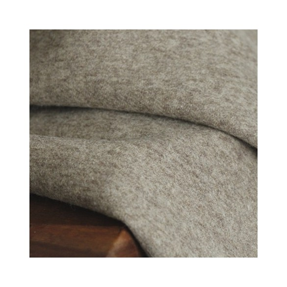 tissu laine beige au mètre