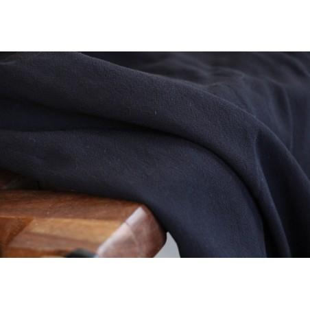 tissu crêpe de viscose noir