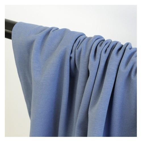 jersey coton bio - bleu