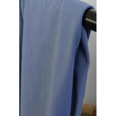 maille jersey en coton bleu