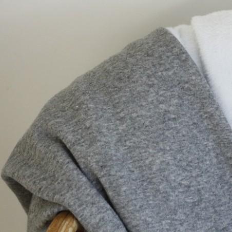 molleton gris chiné envers douillette