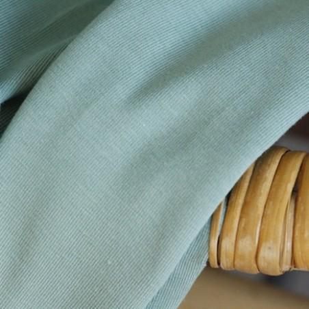 tissu en jersey coton bio - vert