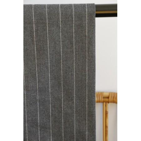 tissu flanelle gris antracite/gris clair