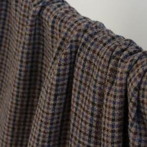 tissu mélange laine et viscose à carreaux