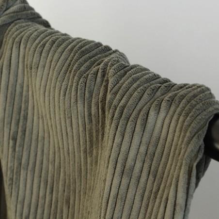 tissus velours côtelé kaki
