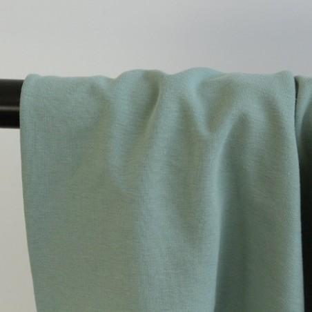 tissu sweat fin vert tendre