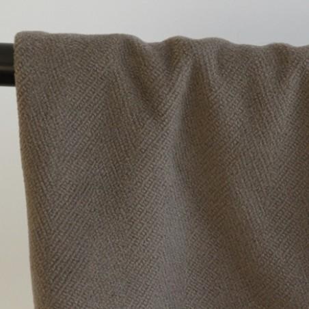 lainage italien taupe pur laine