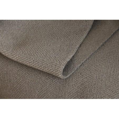 tissu lainage taupe au mètre