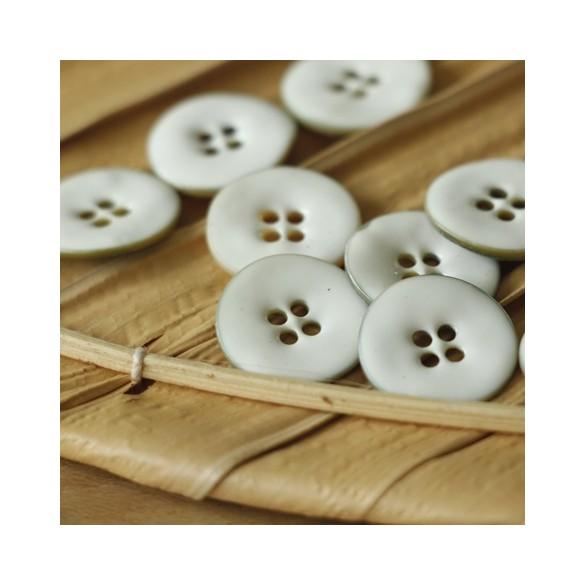 bouton nina rond nacre émaillé blanc fabriqué en france