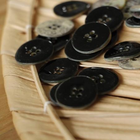 bouton nina nacre émaillé noir