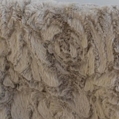 tissu imitation fourrure gris