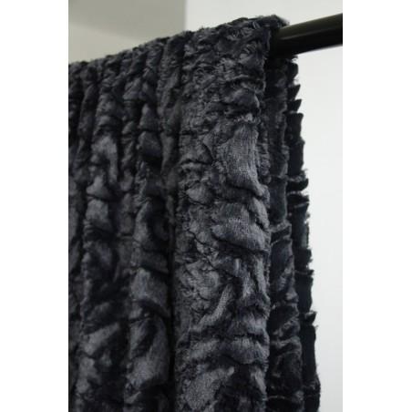 tissu imitation fourrure noir