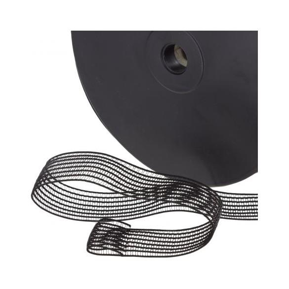 elastique fronceur noir 19 mm