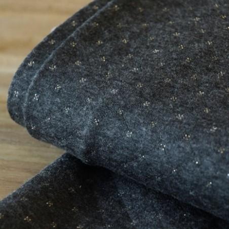 tissu jersey matelassé gris anthracite argent