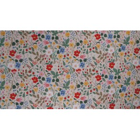 Tissu viscose fleuri rifle paper co