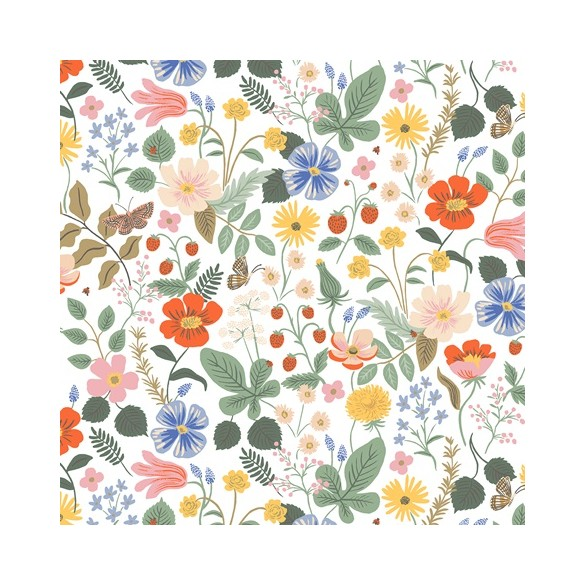 coton rifle paper co - strawberry fields ivory