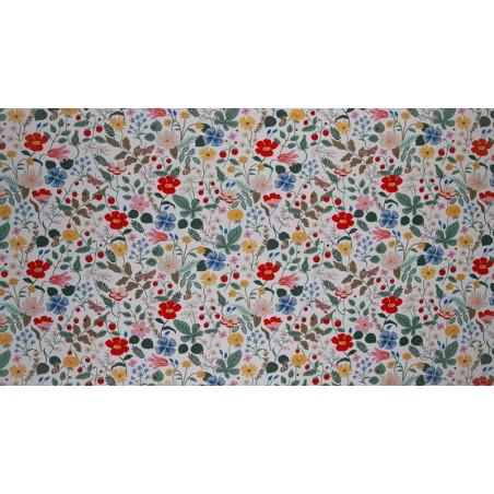 tissu coton fleuri rifle paper co