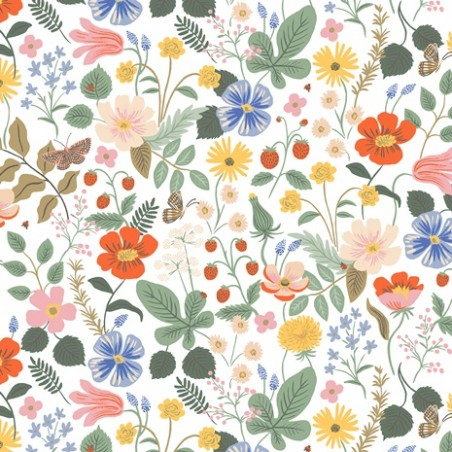 viscose strawberry fields ivory - rifle paper co