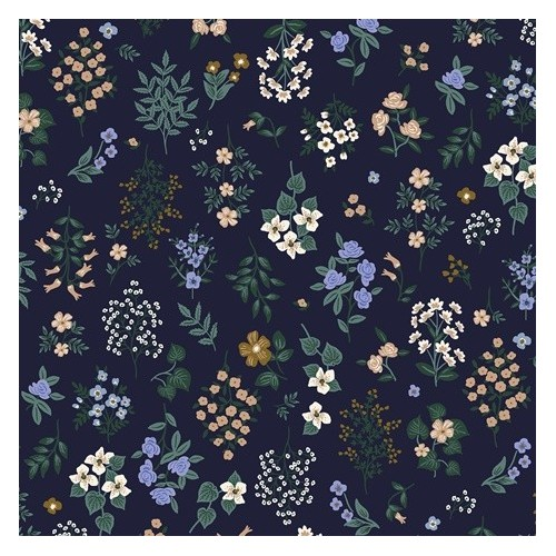 Strawberry fields Hawthorne navy - Rifle paper co