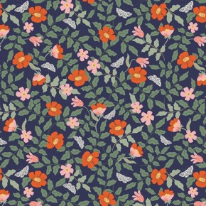 strawberry fields primrose navy - Rifle paper co