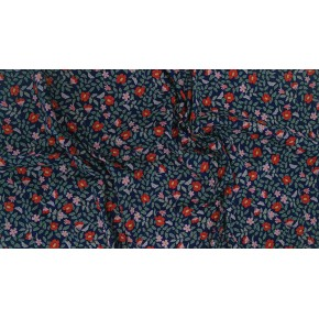 coton fleuri strawberry fields primrose - navy