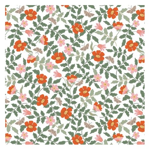 Strawberry fields primrose ivory - Rifle paper co