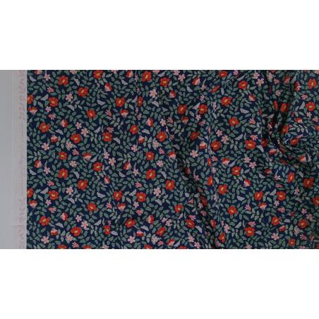 viscose strawberry fields primrose navy - rifle paper co
