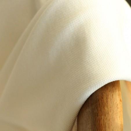jersey maille piquée - blanc cassé