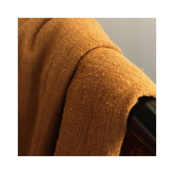 gaze de coton éole - camel