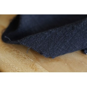 tissu gaze de coton marine - un chat sur un fil