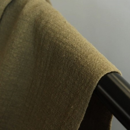 tissu gaze de coton éole - kaki
