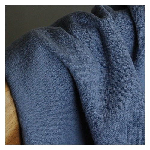 gaze de coton - éole bleu