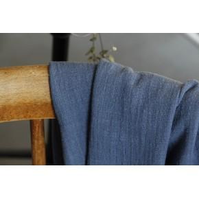 tissu gaze de coton éole bleu