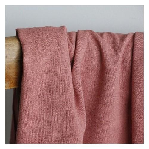 tissu viscose stretch rose blush