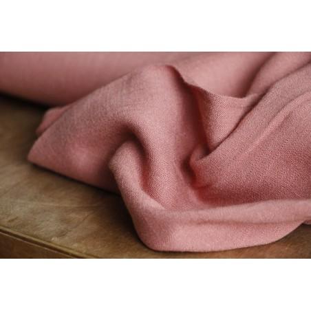 tissu viscose stretch rose