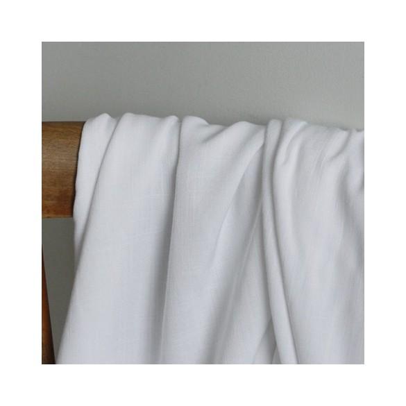 tissu viscose stretch - blanc