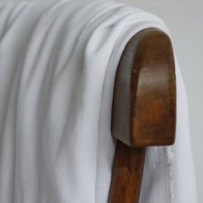 tissu viscose blanche