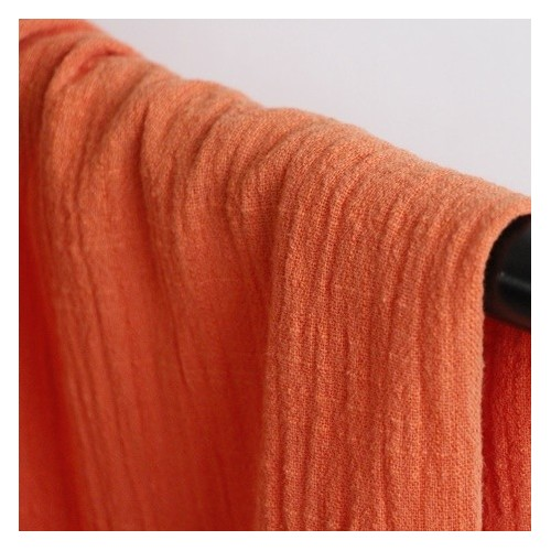 gaze de coton mandarine