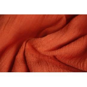 tissu texturé coton - orange