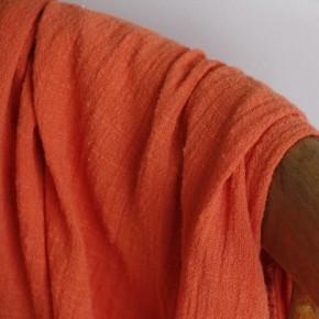 tissu gaze de coton mandarine
