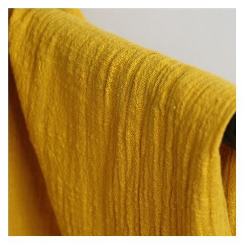 gaze de coton éole - jaune ocre
