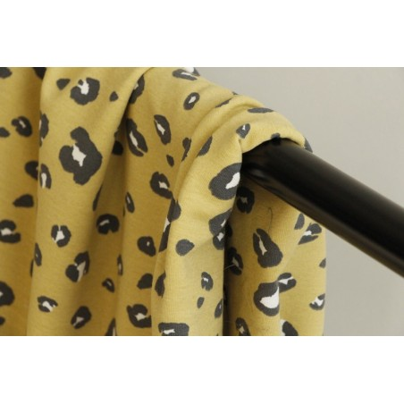 jersey coton bio panther yellow