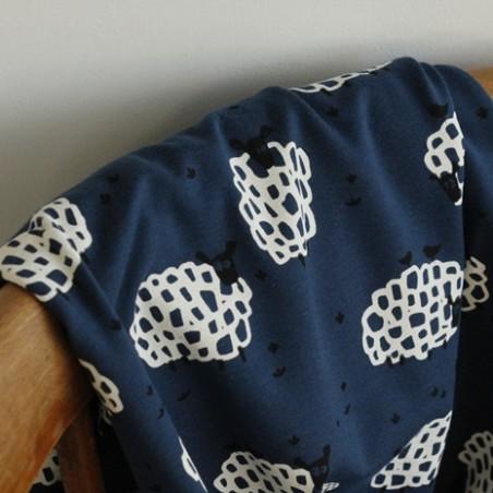 tissu jersey coton bio - mouton