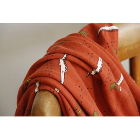 jersey coton bio gots - crocodile